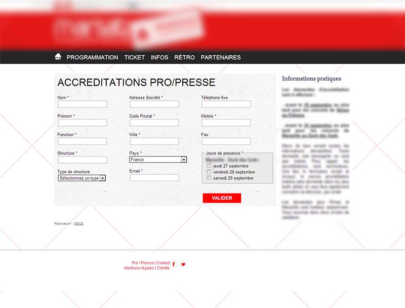 Formulaire d'inscription individualisé en ligne