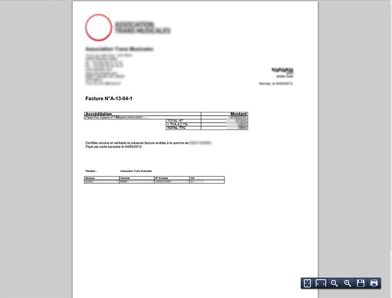 Edition de factures automatique et individualisée